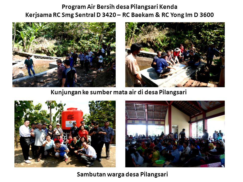 Kunjungan ke sumber mata air di desa Pilangsari