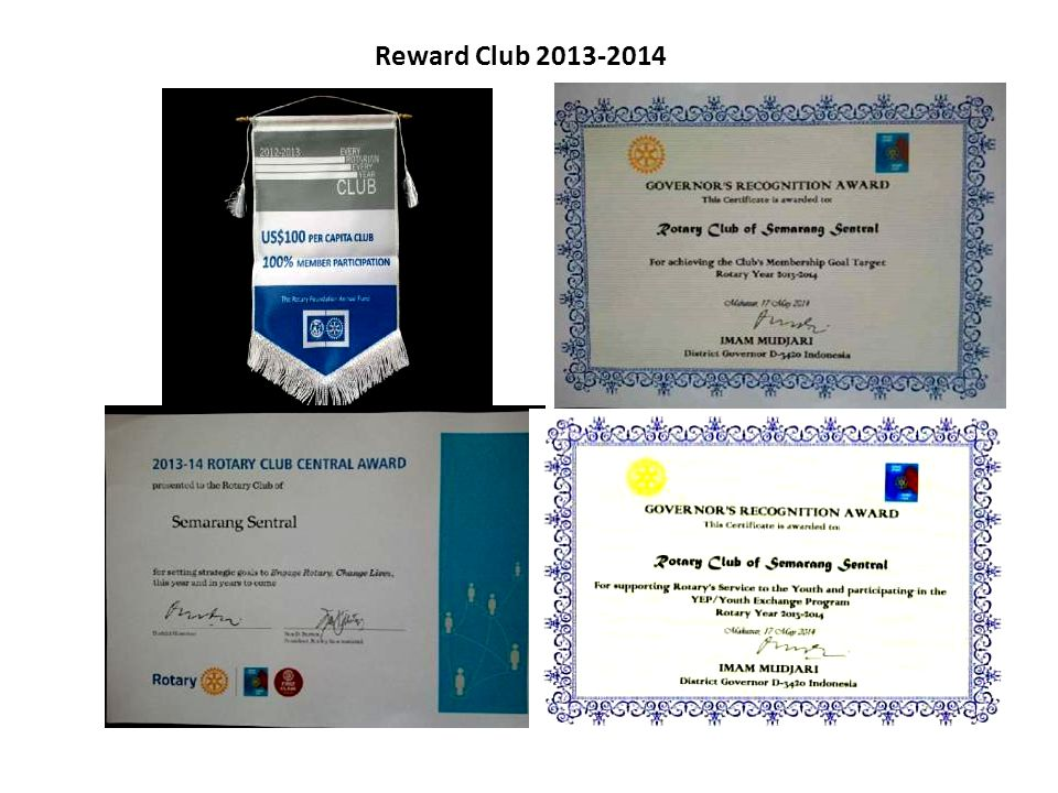 Reward Club 2013-2014