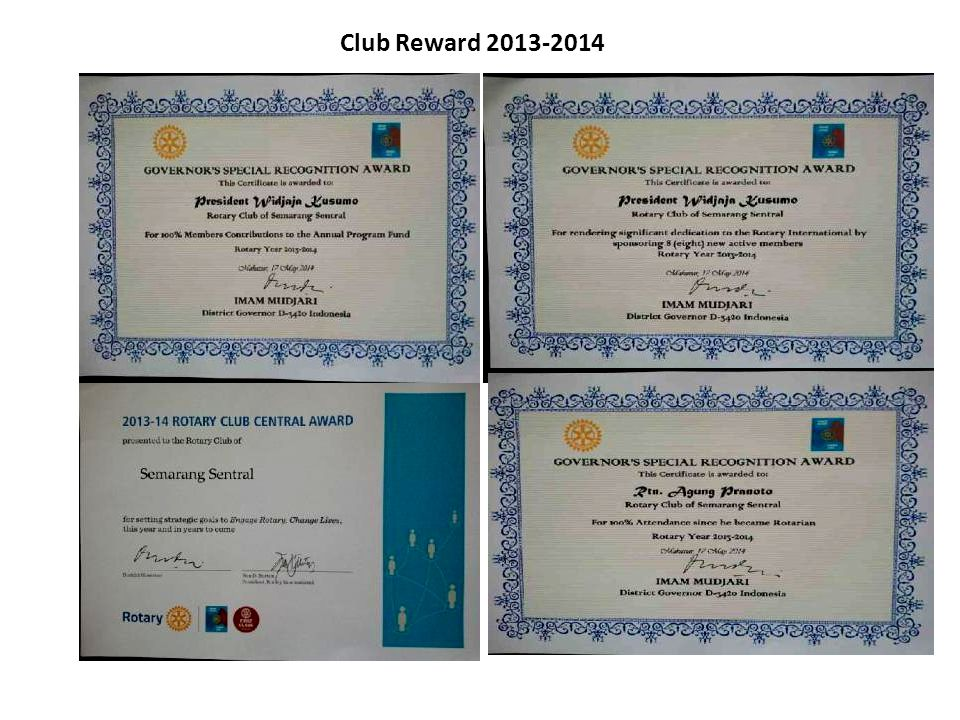 Club Reward 2013-2014