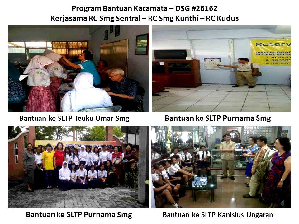 Bantuan ke SLTP Purnama Smg