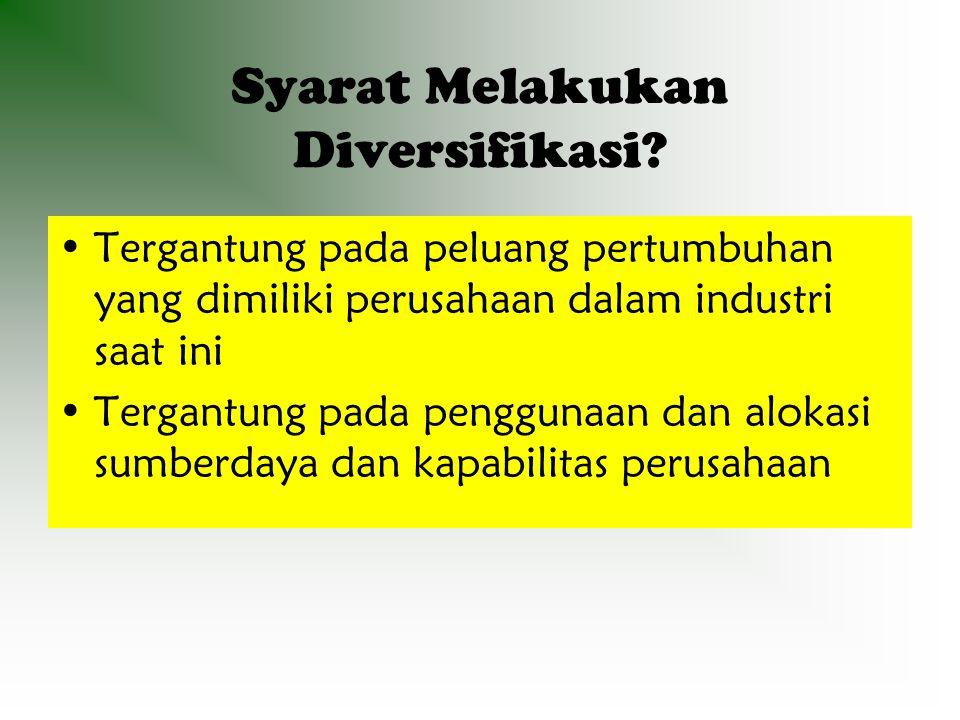 Syarat Melakukan Diversifikasi