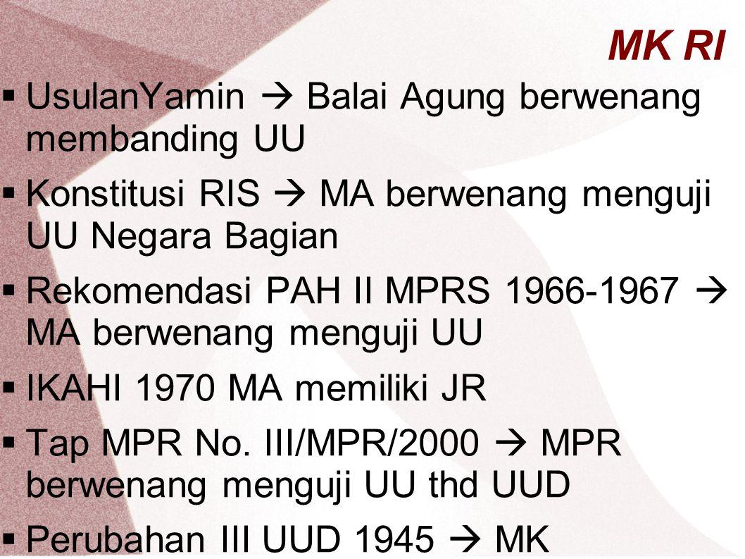 MK RI UsulanYamin  Balai Agung berwenang membanding UU