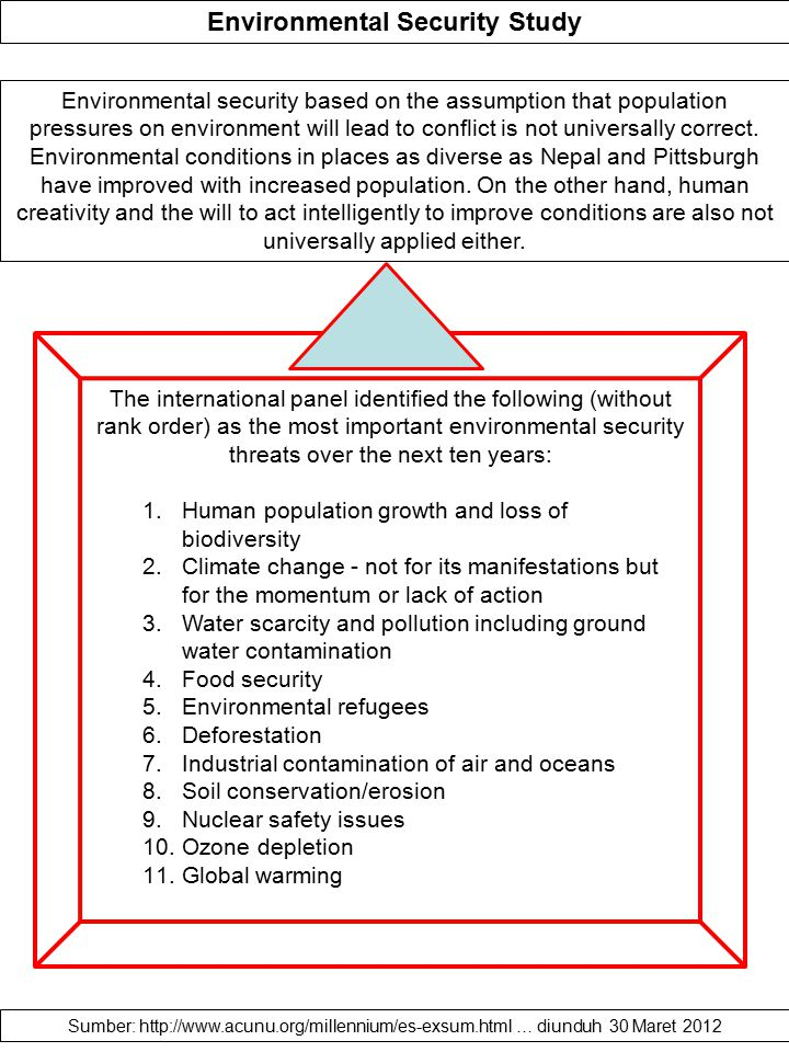 Environmental Security Study