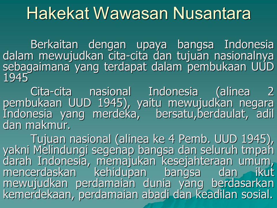 Hakekat Wawasan Nusantara