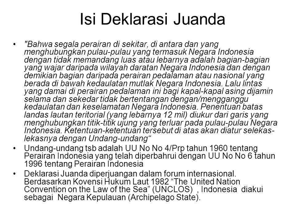 Isi Deklarasi Juanda