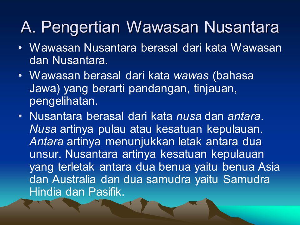 A. Pengertian Wawasan Nusantara