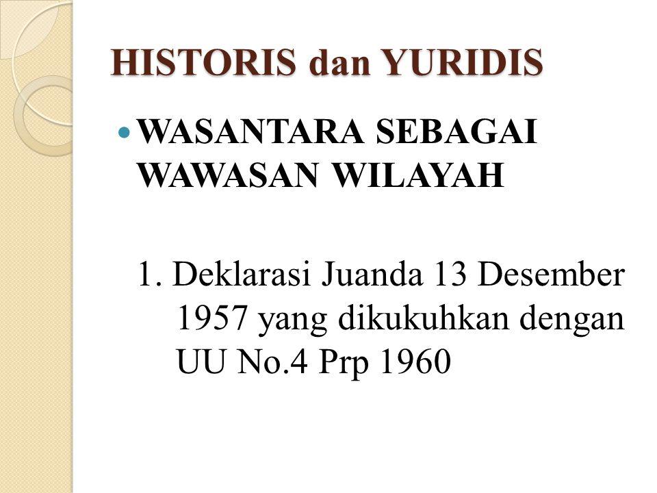 HISTORIS dan YURIDIS WASANTARA SEBAGAI WAWASAN WILAYAH