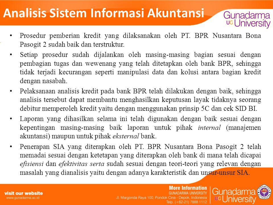 Analisis Sistem Informasi Akuntansi