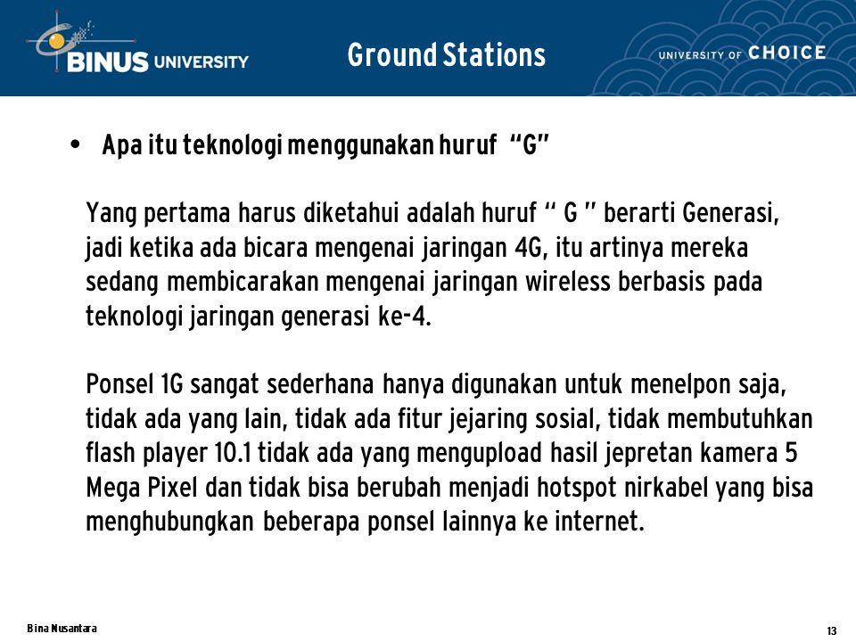 Ground Stations Apa itu teknologi menggunakan huruf G