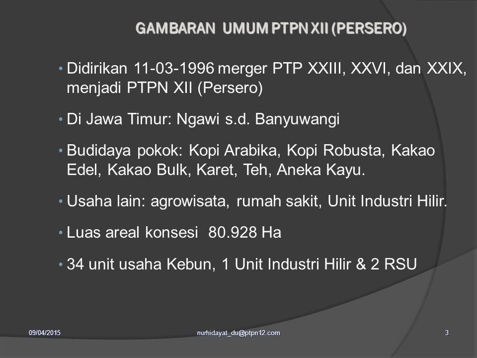 GAMBARAN UMUM PTPN XII (PERSERO)