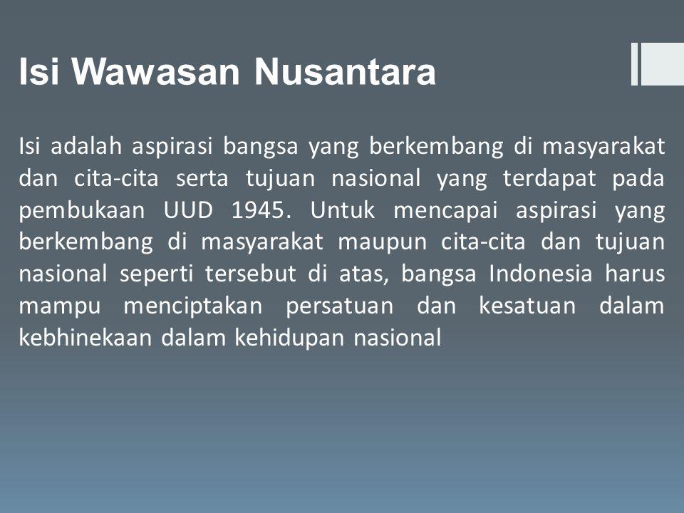 Isi Wawasan Nusantara