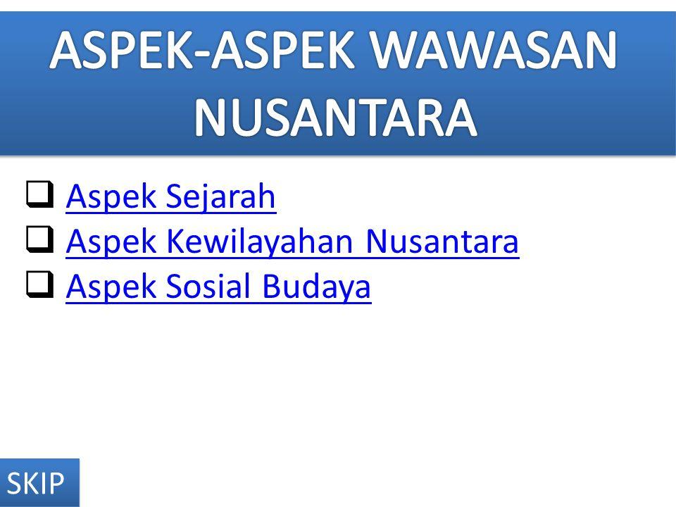 ASPEK-ASPEK WAWASAN NUSANTARA