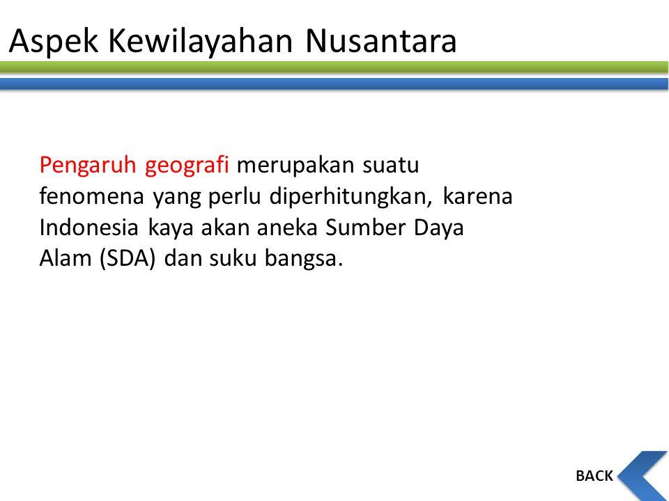 Aspek Kewilayahan Nusantara