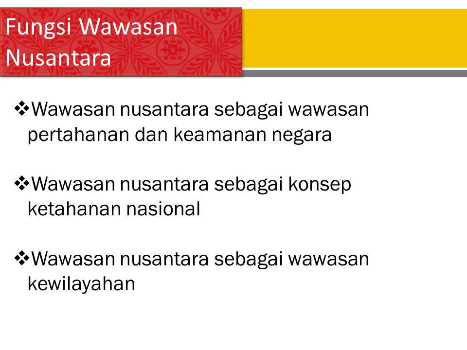 Fungsi Wawasan Nusantara