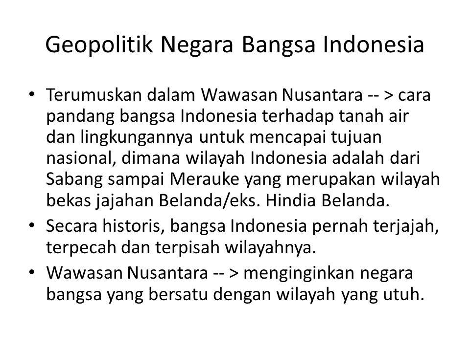 Geopolitik Negara Bangsa Indonesia
