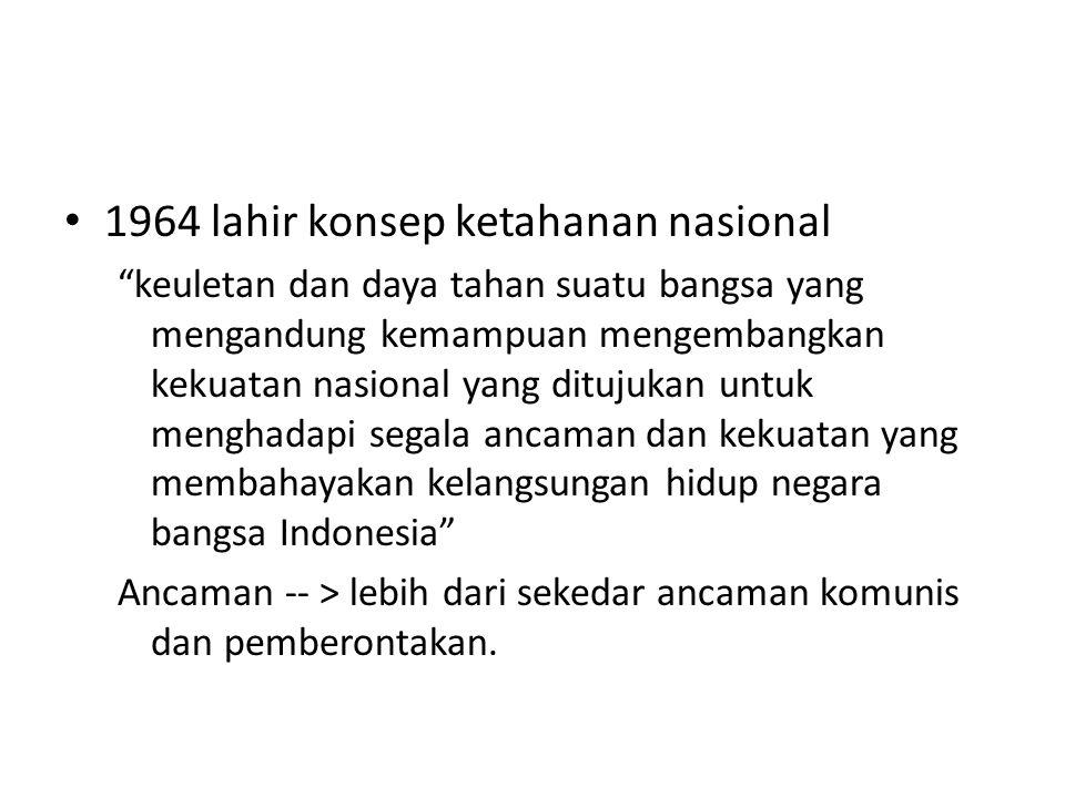 1964 lahir konsep ketahanan nasional