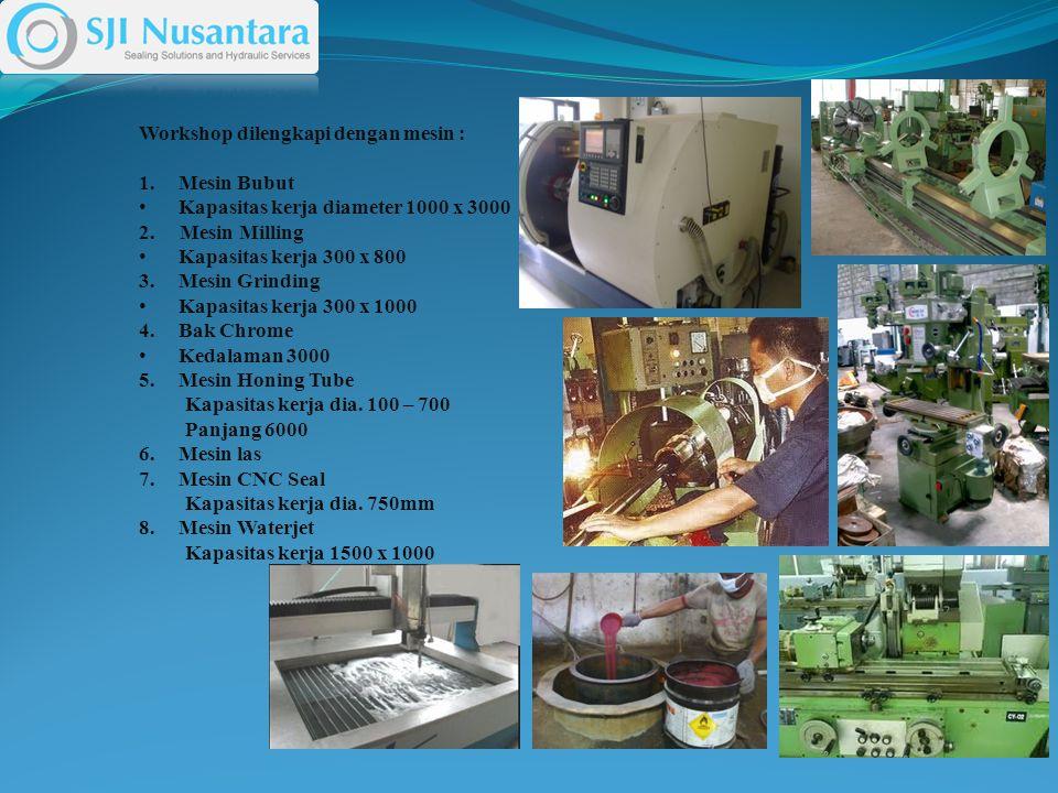 Workshop dilengkapi dengan mesin :