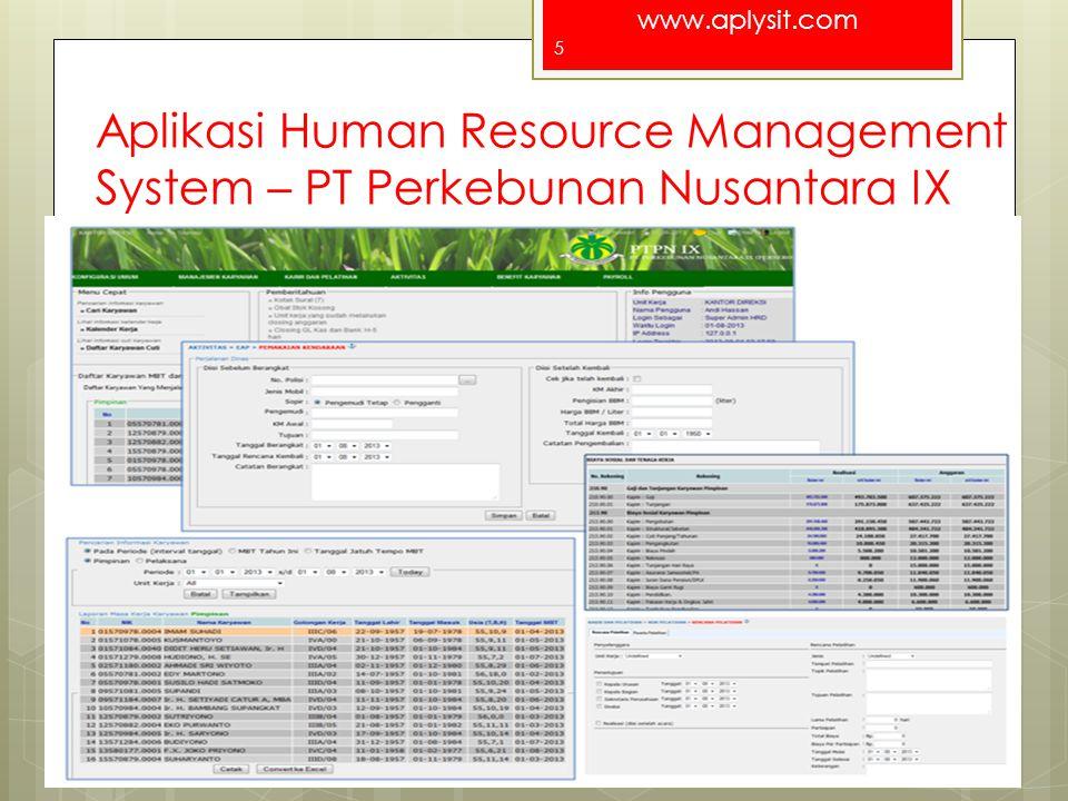 Aplikasi Human Resource Management System – PT Perkebunan Nusantara IX
