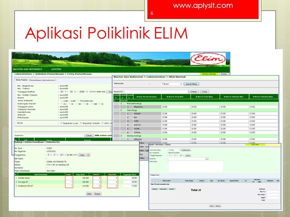 Aplikasi Poliklinik ELIM