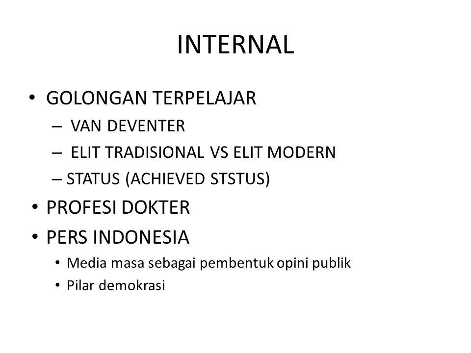 INTERNAL GOLONGAN TERPELAJAR PROFESI DOKTER PERS INDONESIA