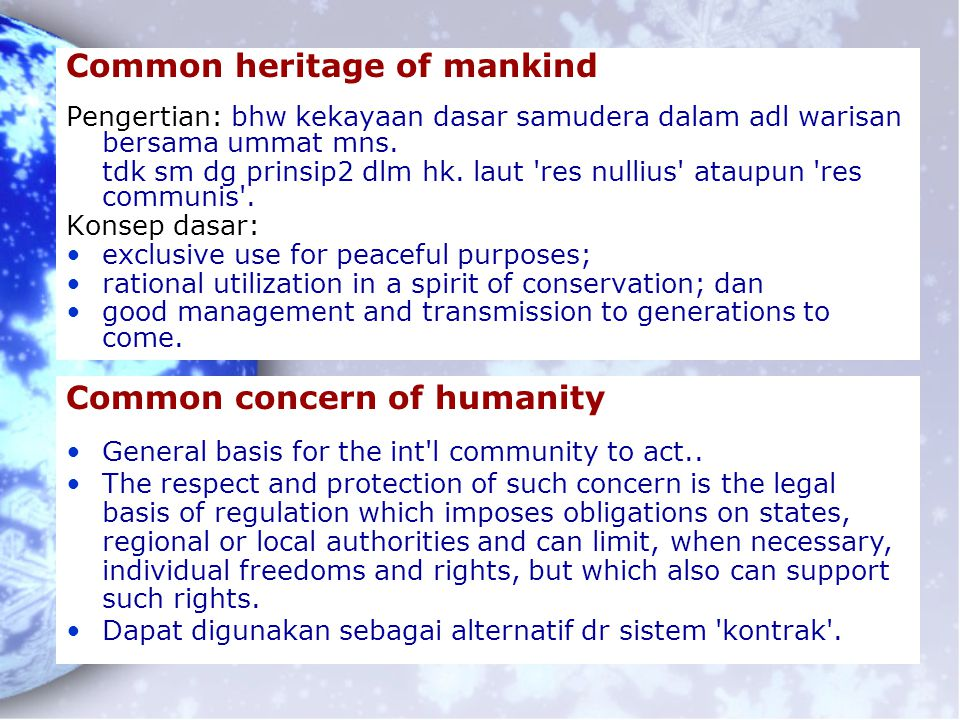Common heritage of mankind
