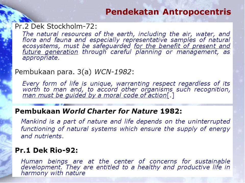 Pendekatan Antropocentris