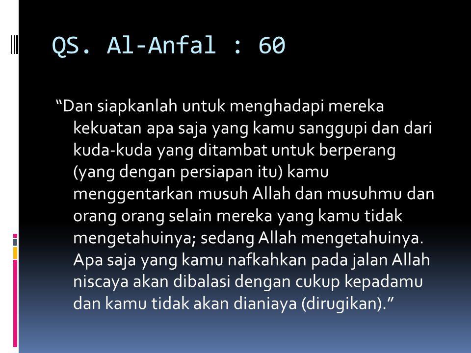 QS. Al-Anfal : 60