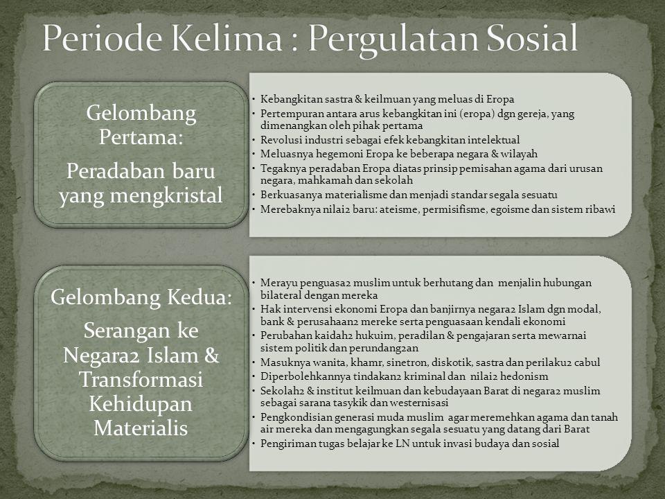 Periode Kelima : Pergulatan Sosial