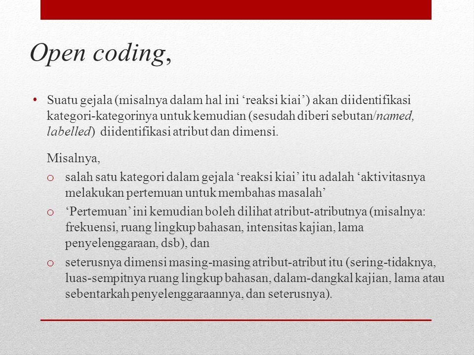Open coding,