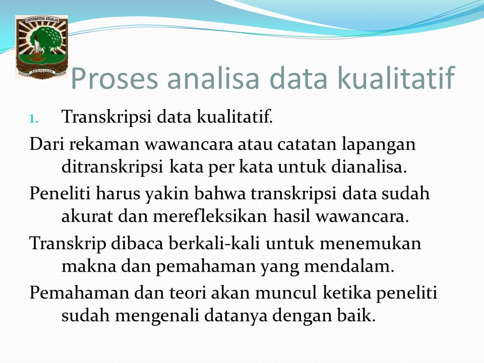 Proses analisa data kualitatif