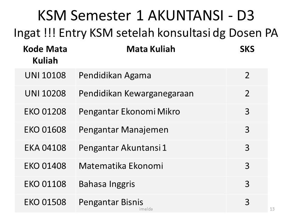 KSM Semester 1 AKUNTANSI - D3 Ingat