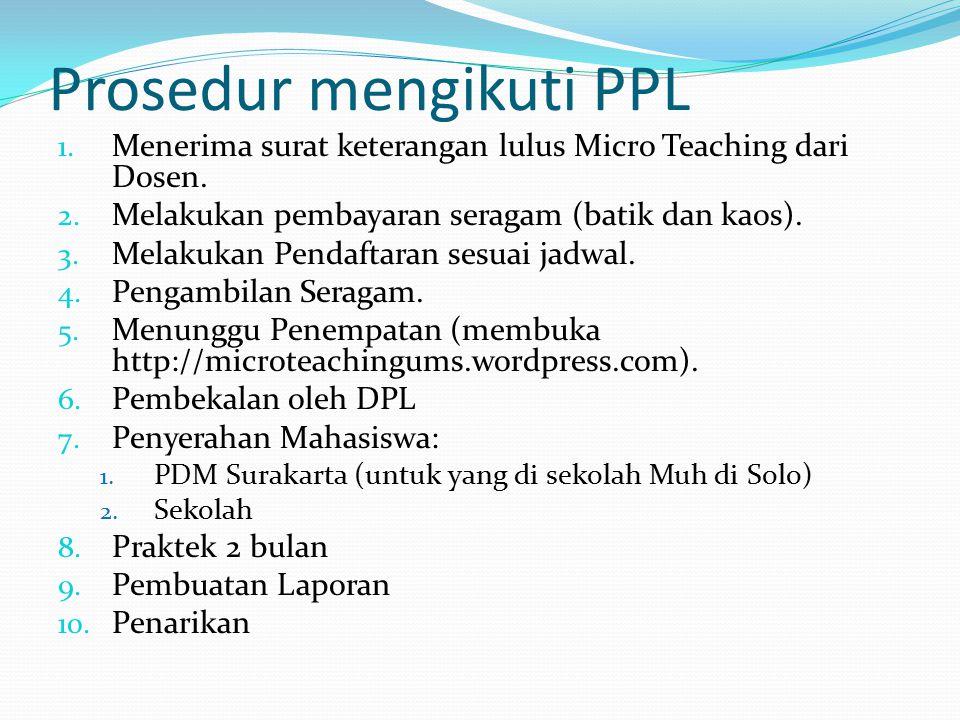 Prosedur mengikuti PPL
