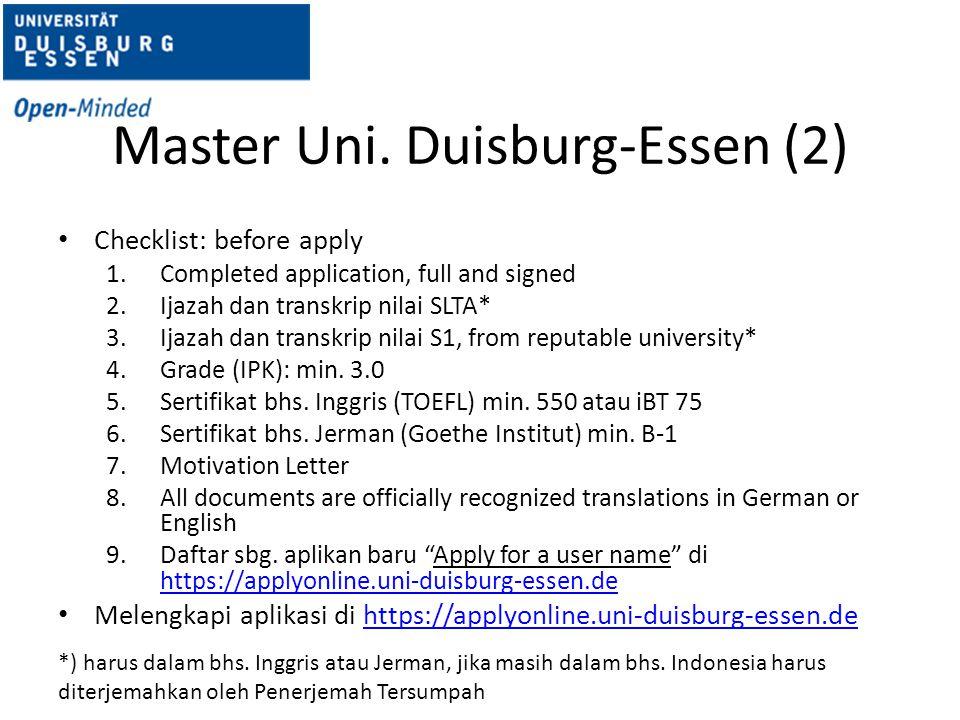 Master Uni. Duisburg-Essen (2)