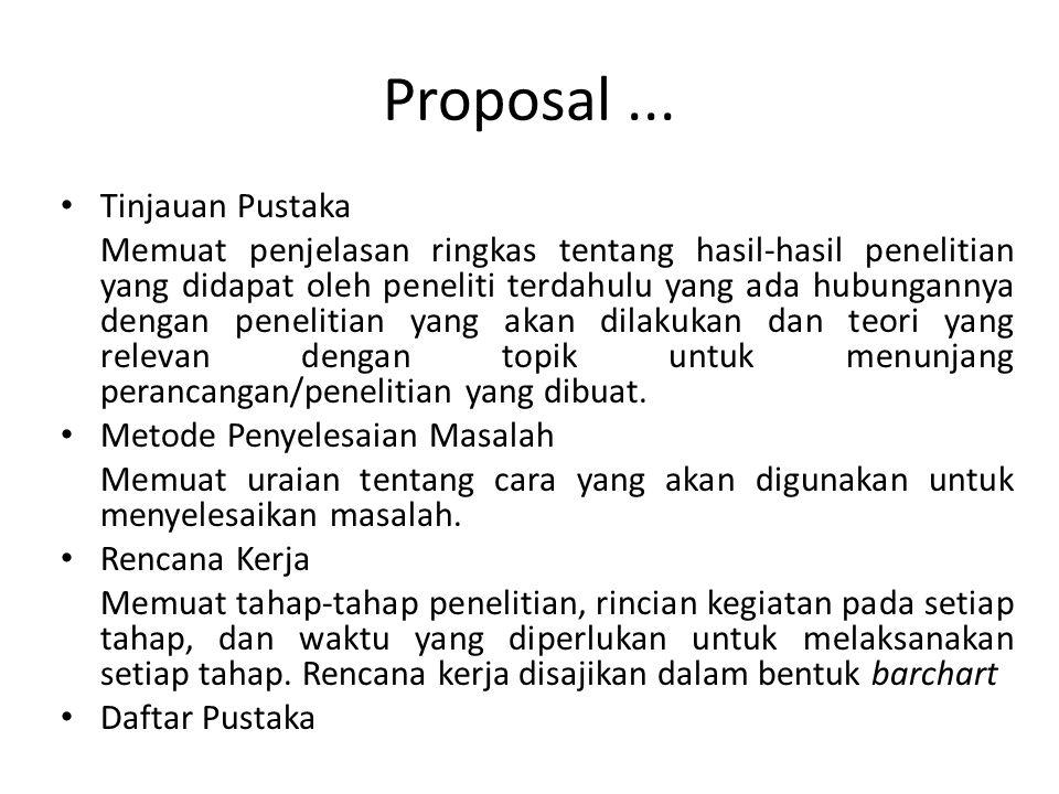 Proposal ... Tinjauan Pustaka