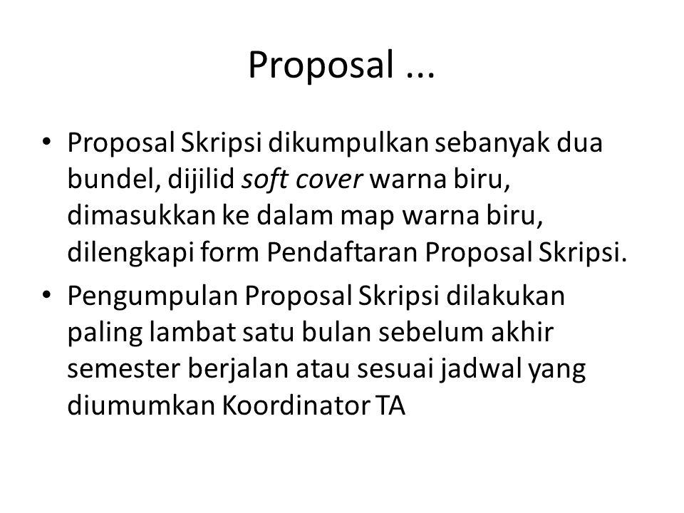 Proposal ...