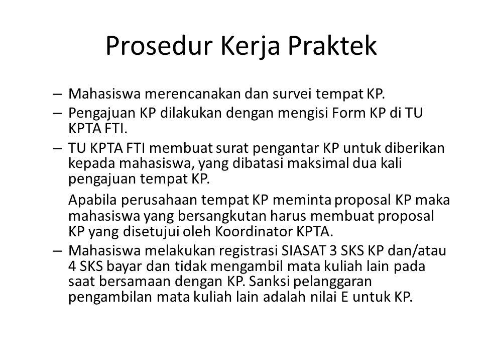 Prosedur Kerja Praktek