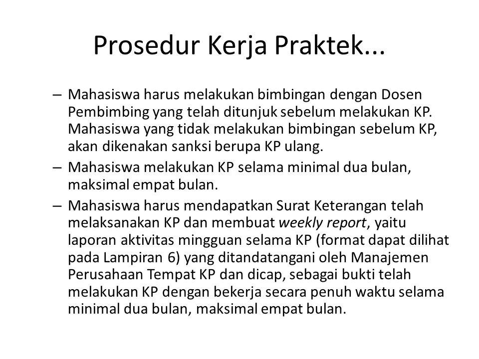 Prosedur Kerja Praktek...