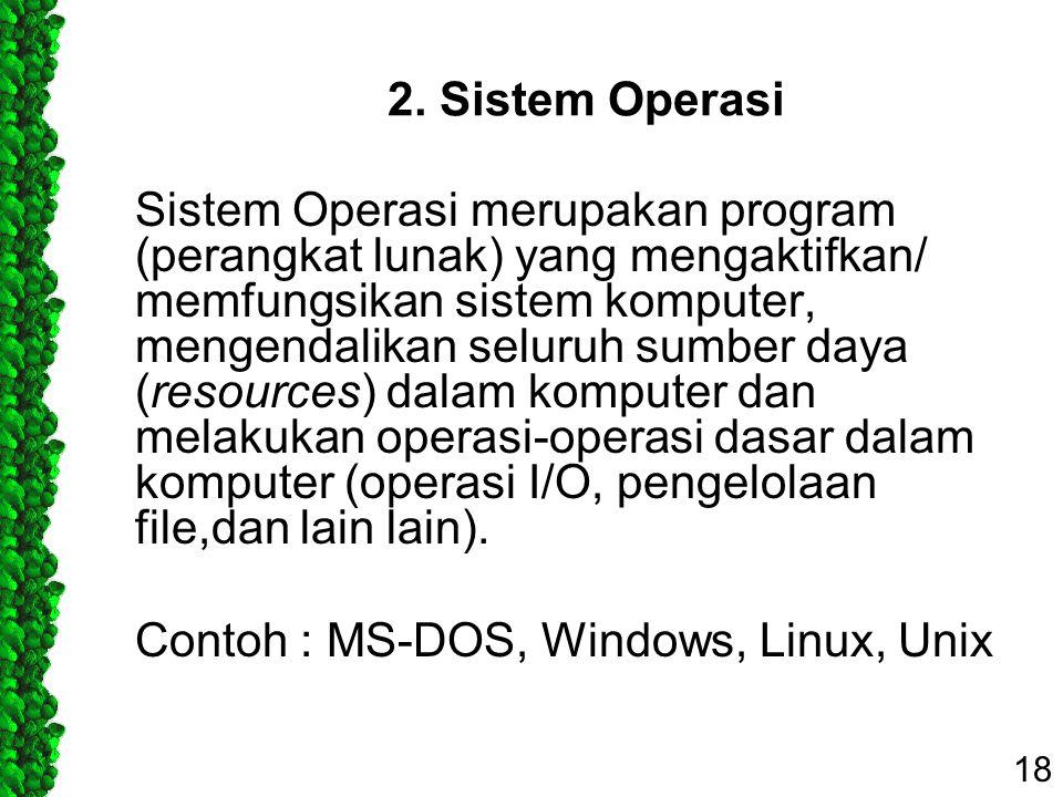 2. Sistem Operasi