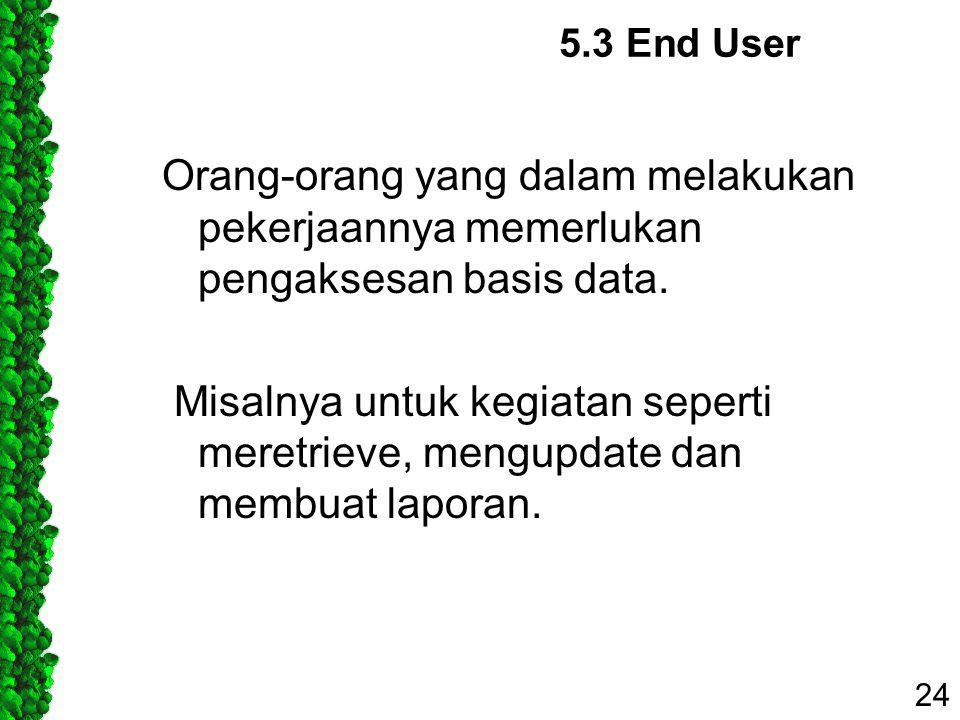 5.3 End User