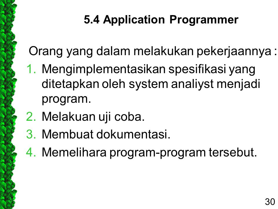 5.4 Application Programmer