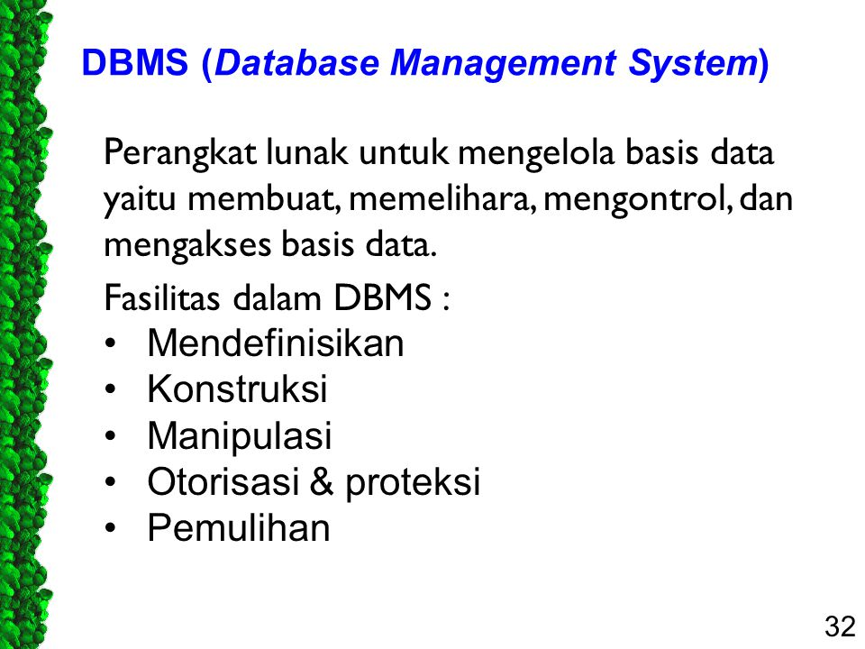 DBMS (Database Management System)