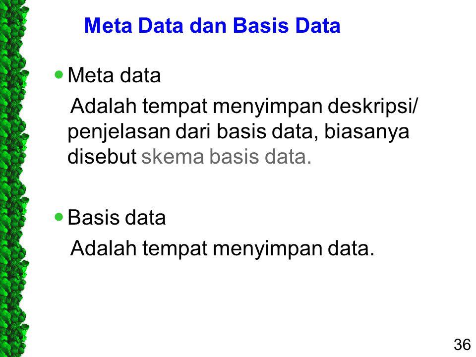 Meta Data dan Basis Data