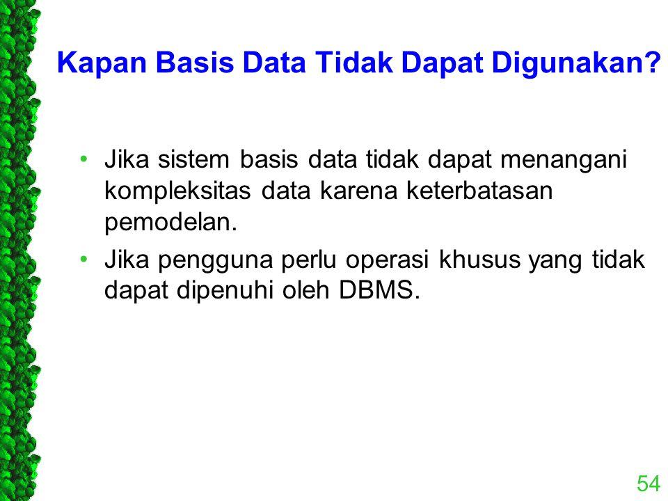 Kapan Basis Data Tidak Dapat Digunakan