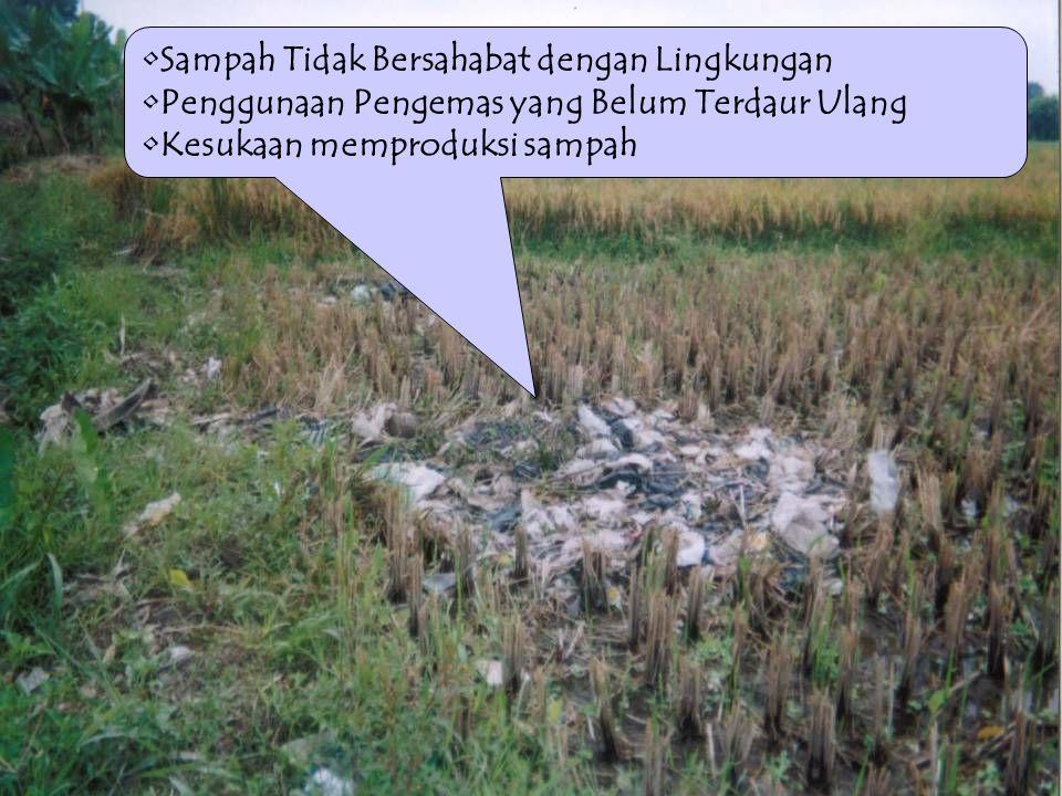 Sampah Tidak Bersahabat dengan Lingkungan
