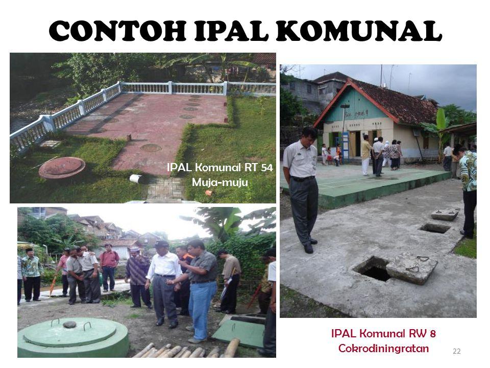 CONTOH IPAL KOMUNAL IPAL Komunal RT 54 Muja-muju