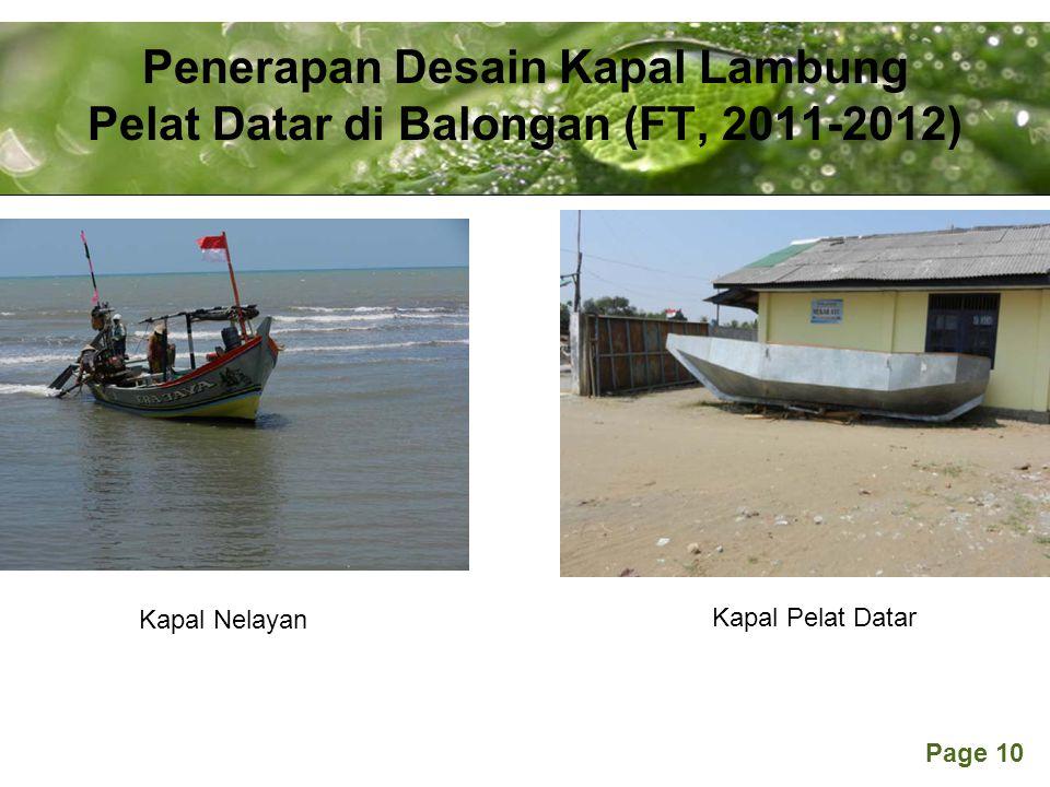 Penerapan Desain Kapal Lambung Pelat Datar di Balongan (FT, 2011-2012)