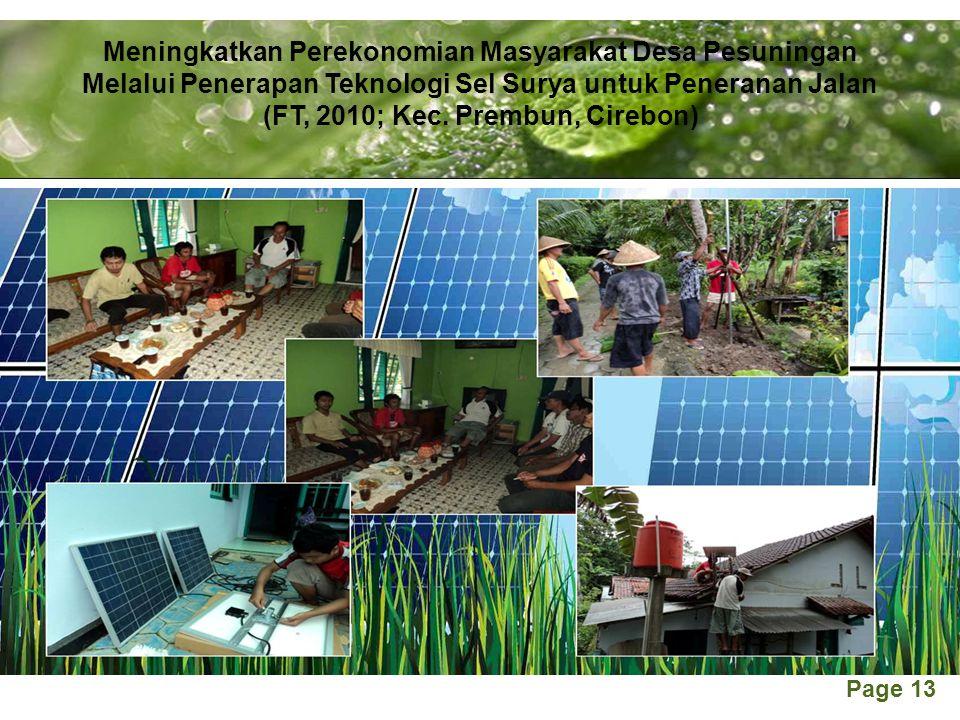 Meningkatkan Perekonomian Masyarakat Desa Pesuningan