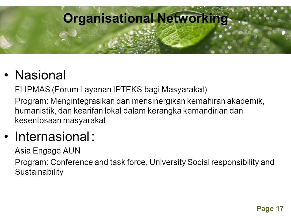 Organisational Networking