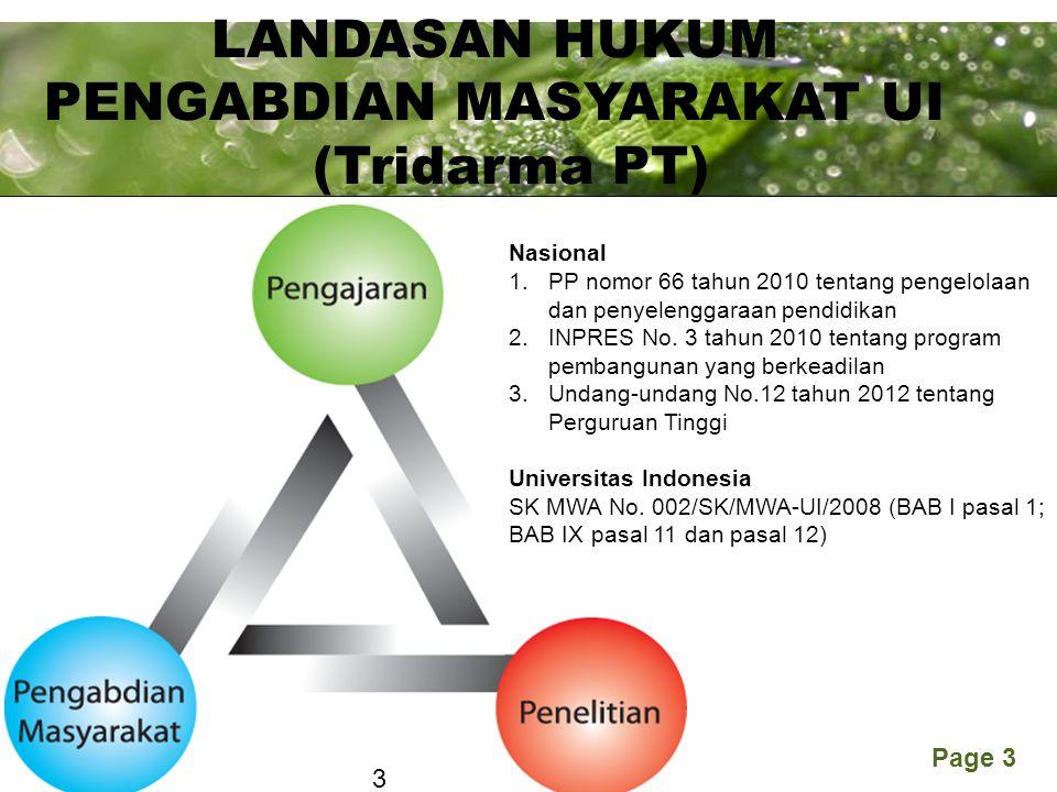 PENGABDIAN MASYARAKAT UI (Tridarma PT)