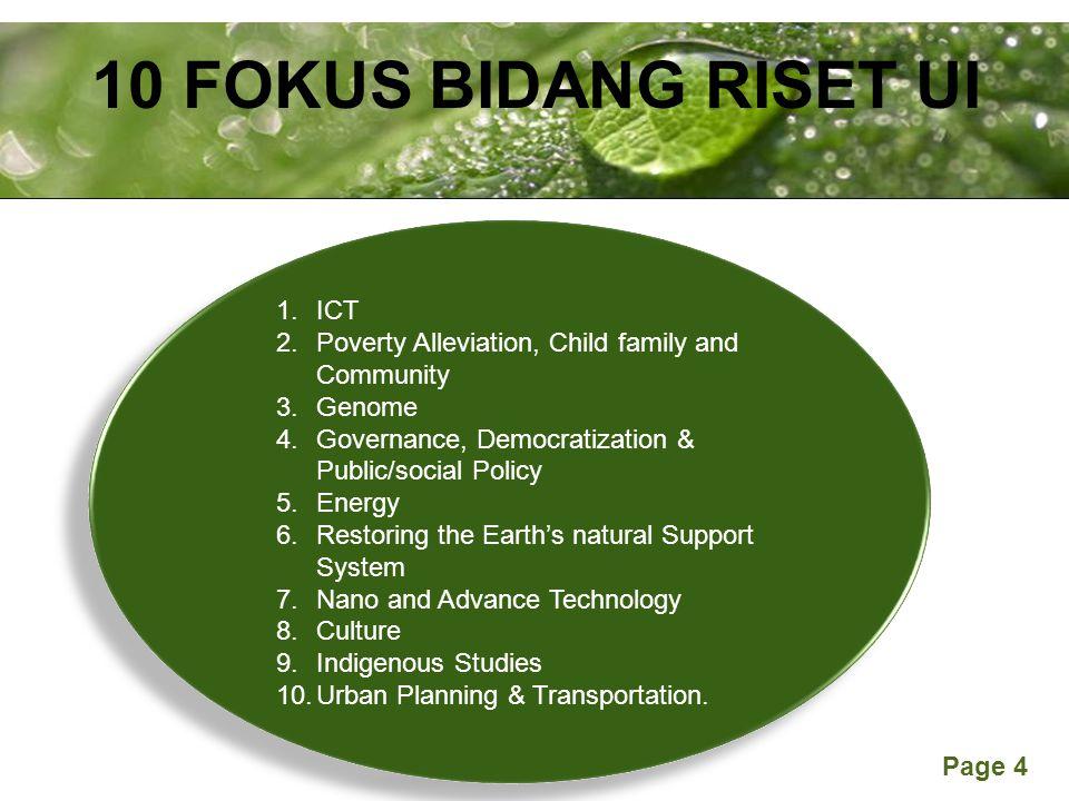 10 FOKUS BIDANG RISET UI ICT
